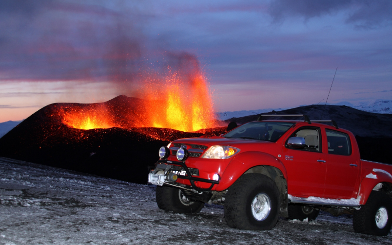 If you're ever faced with an active volcano, make sure you've packed one of these!