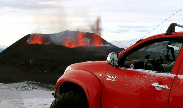 Top Gear Conquers Volcano With Toyota Hilux Toyota