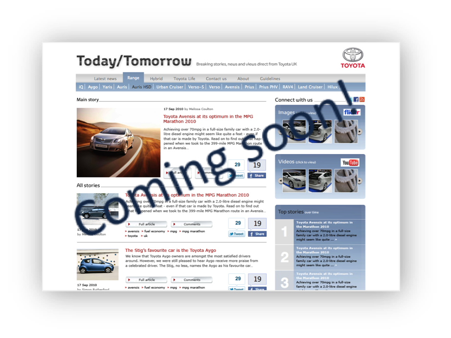 New Toyota blog coming soon...