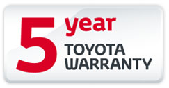 Toyota 5 Year Warranty