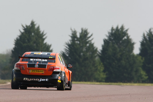 Frank Wrathall in action at Thruxton