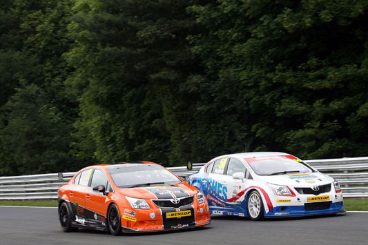 The BTCC Toyotas