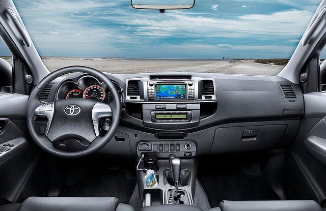 2012 Toyota Hilux interior (LHD)