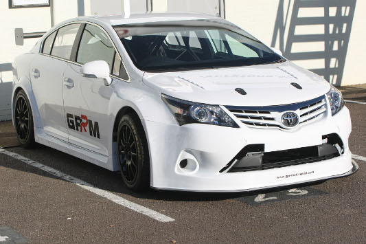 The 2012 Toyota Avensis BTCC car