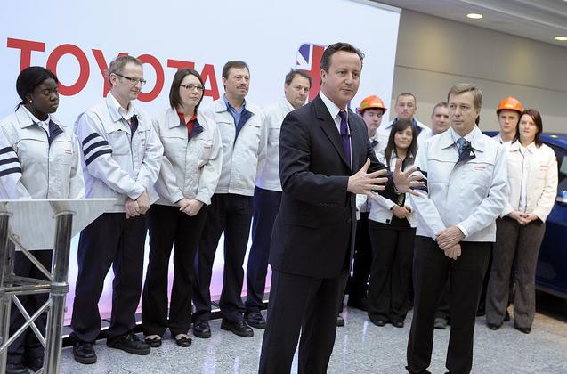 Prime Minister David Cameron at Burnaston