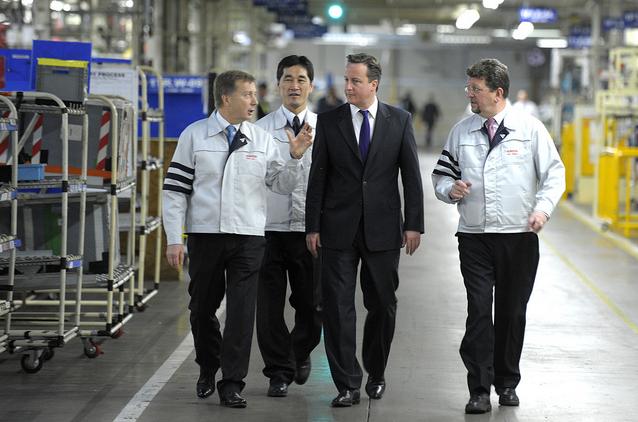Prime Minister David Cameron visits Burnaston