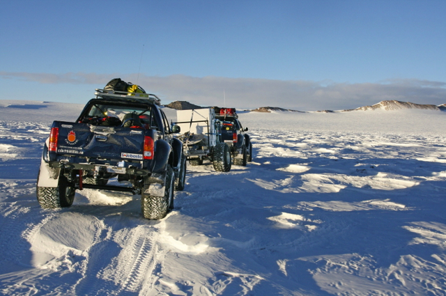 Arctic Trucks' modified Hilux cross the Antarctic
