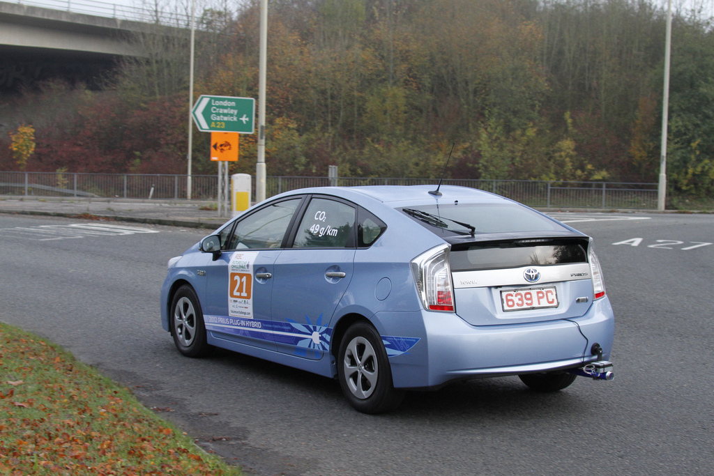 The Toyota Prius Plug-in Hybrid at the 2011 RAC Future Car Challenge