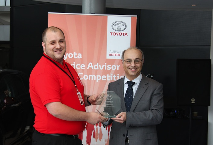 Matthew Hopwood Toyota Service Advisor Skills Competition 2012 Winner