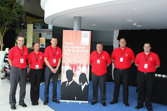 Finalists of the 2012 Toyota Service Advisor Skills Competition
