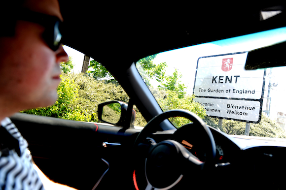 Toyota GT86 and Kent road sign