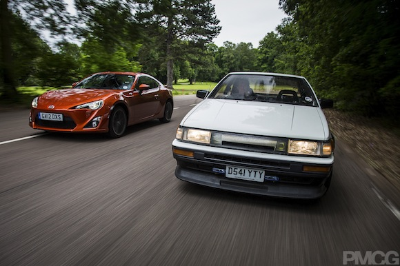 Toyota Corolla AE86 and Toyota GT86