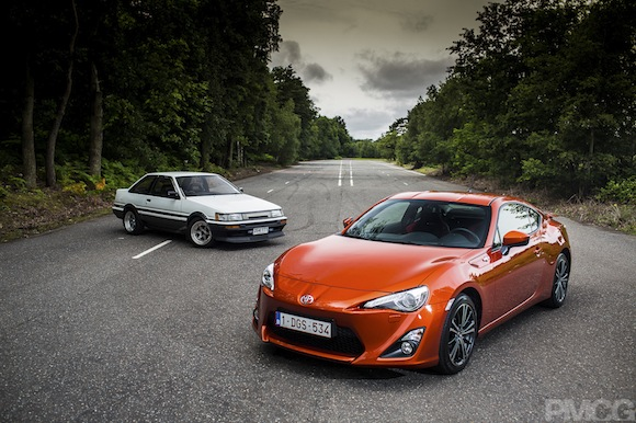 Toyota GT86 and Toyota Corolla AE86
