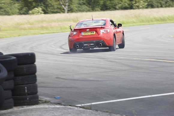 Toyota GT86 on track at Dunsfold