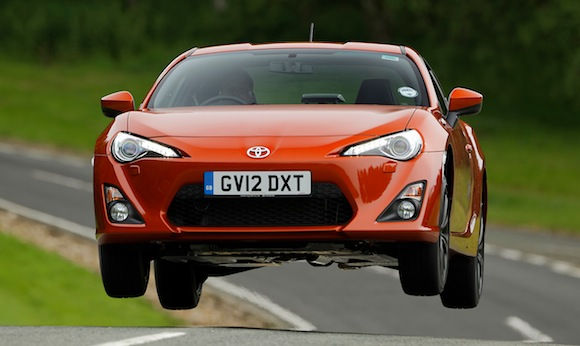 Toyota GT86 jump from Autocar B-Road Heroes feature