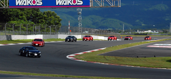 Toyota GT86 on track at Fuji 86 Style