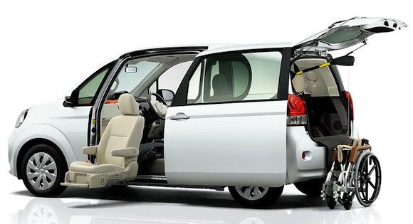Toyota Porte lift-up front passenger seat model