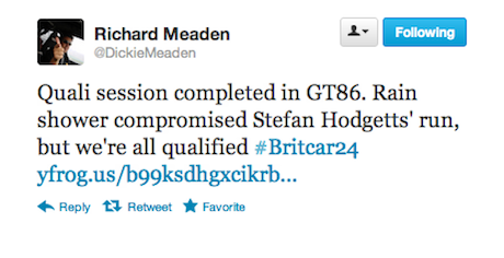Richard Meaden tweet