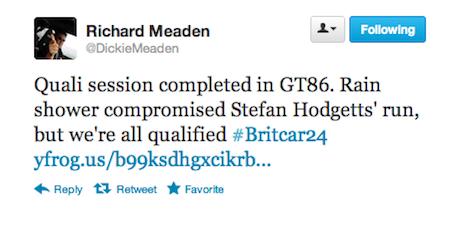 Richard Meaden tweet