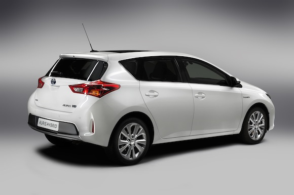 New Toyota Auris Hybrid rear three-quarter