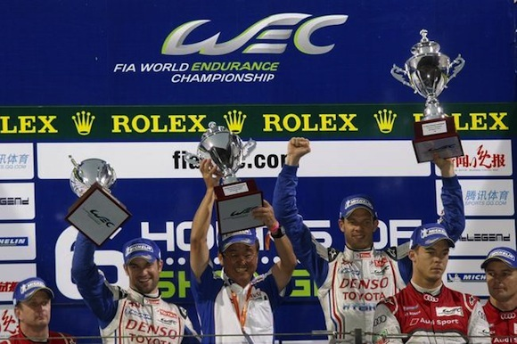 Toyota Hybrid Shanghai podium