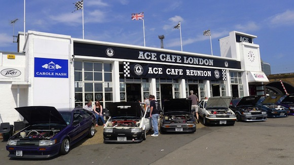 Toyotas at Ace Cafe