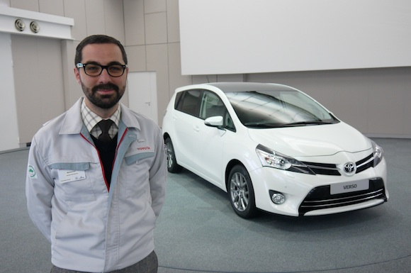 Mehmet Kilic and the new Toyota Verso