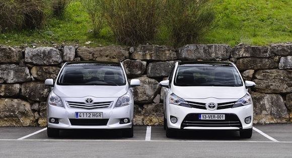 Toyota Verso: previous-generation and new-generation models side by side