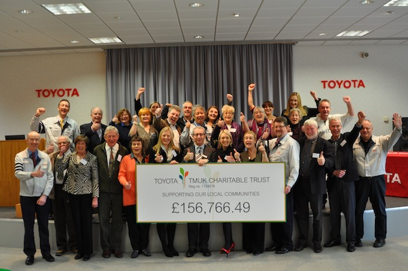 TMUK charity cheque presentation