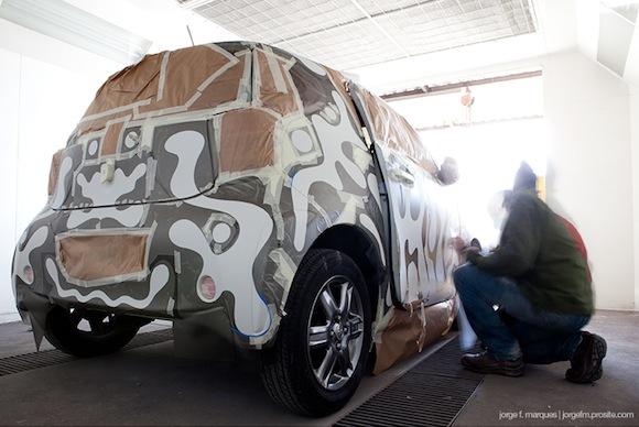 Toyota iQ Urban Art paint