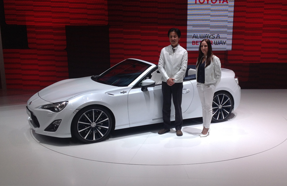Tada and the FT-86 Open Concept at the 2013 Geneva Motor Show
