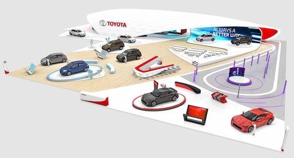 Toyota stand Geneva motor show 2013 The Wave