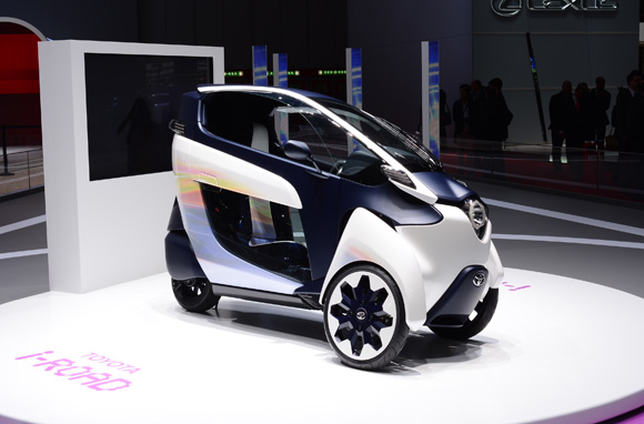 Toyota i-Road at Geneva motor show