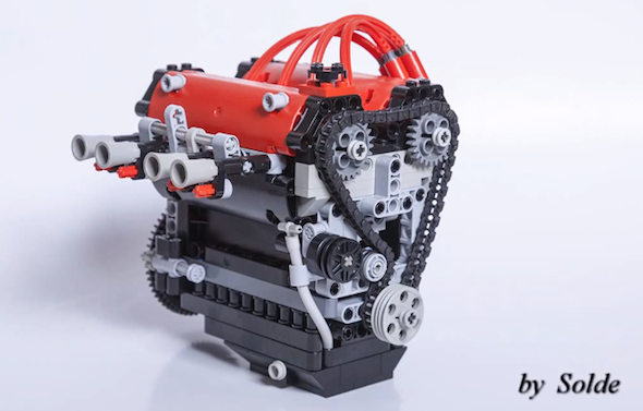 Toyota 4a Ge Engine Made In Lego Video Toyota