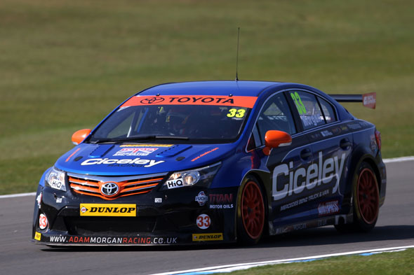 Adam Morgan Ciceley Racing BTCC Toyota Avensis