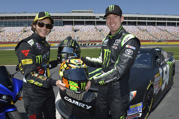 Valentino Rossi and Kyle Busch