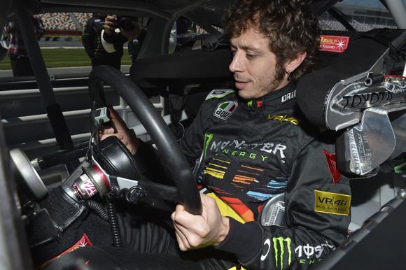 Valentino Rossi Toyota Camry NASCAR test