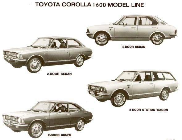 Toyota Corolla Evolution >> Toyota Corolla generations - 1970-74 - Toyota