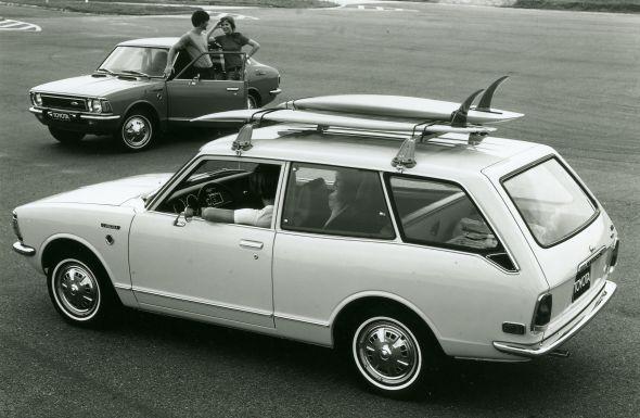 1972 Corolla Wagon and saloon