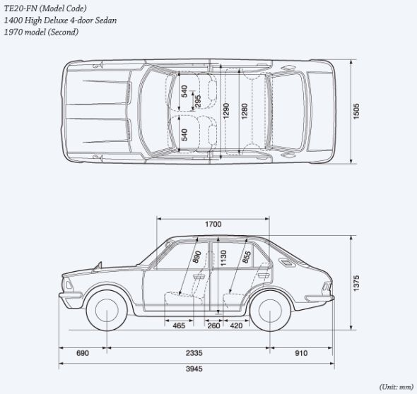 Corolla second-gen outline