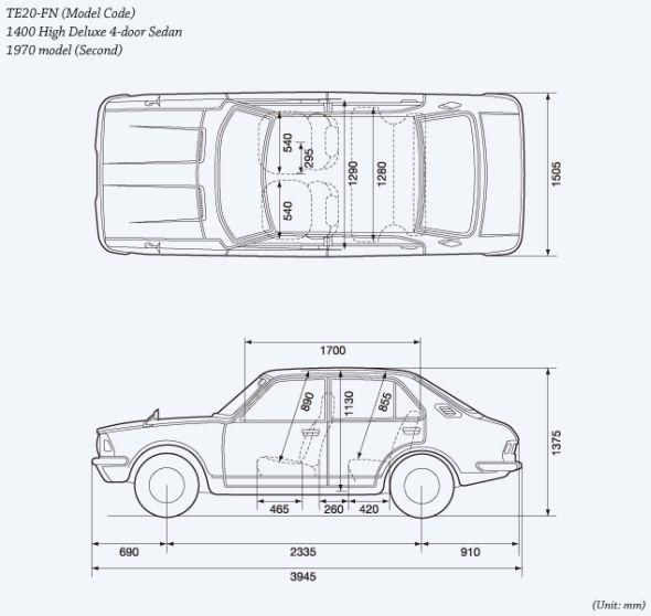 Corolla second-gen outline
