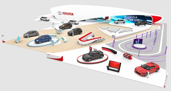 The Toyota stand