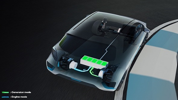 Toyota Yaris Hybrid-R hybrid system