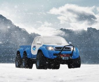 Toyota Hilux 6x6 to tackle Antarctica - Toyota