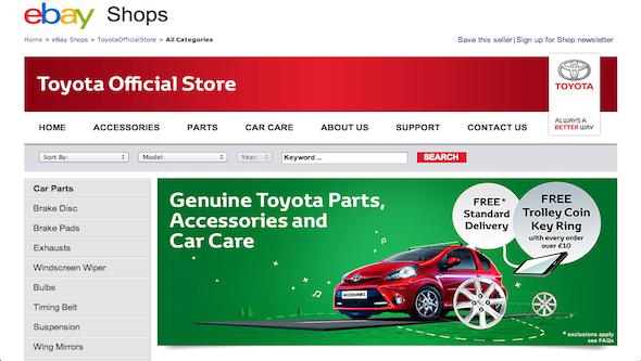 Toyota eBay store launch