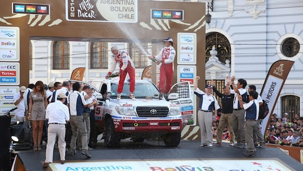Team Land Cruiser Dakar finish