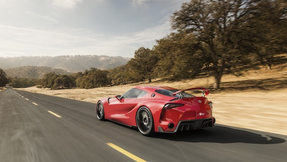 Toyota FT-1 driving rear