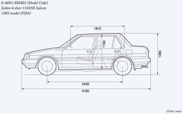 Fifth-gen Corolla drawing