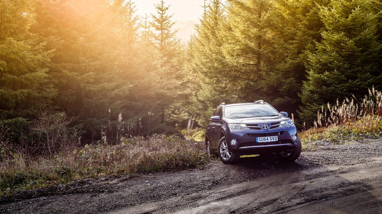 Toyota RAV4 driving off-road