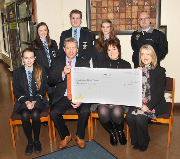 Mid Ulster Cars Toyota supports Cookstown High School and Holy Trinity College